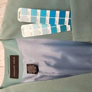 august silk Jackets & Coats - August Silk Dusty Teal Silk 2 Button Blazer Sz 14